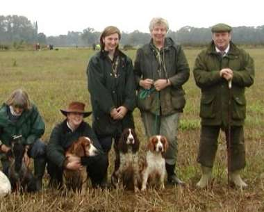 Two Welsh Springer Spaniels gained their Show Gundog Working Certificates: Mrs M & Miss K Duncans' Sh Ch Highclare Stormtrooper (left) Mrs J Revill's Julita Regal Request (right) Photos by Mrs J Revill